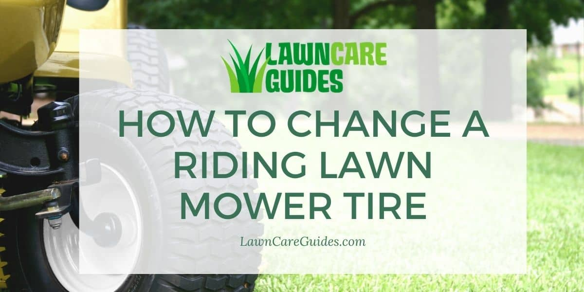 how to change a riding lawn mower tire