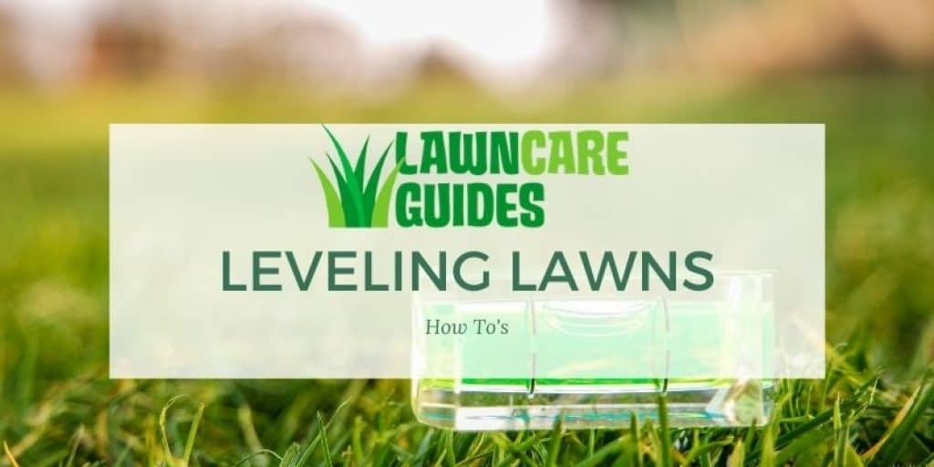 how to level lawns