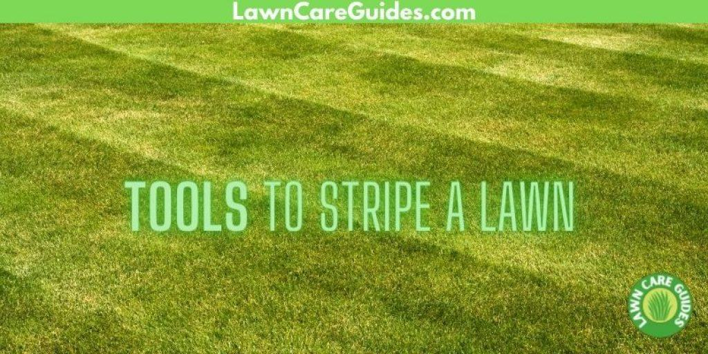 Tools To Stripe a Lawn