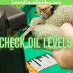 Check Oil Levels in a lawn mower