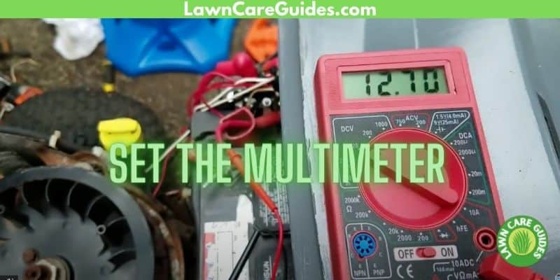 how to set the multimeter on a lawn mower