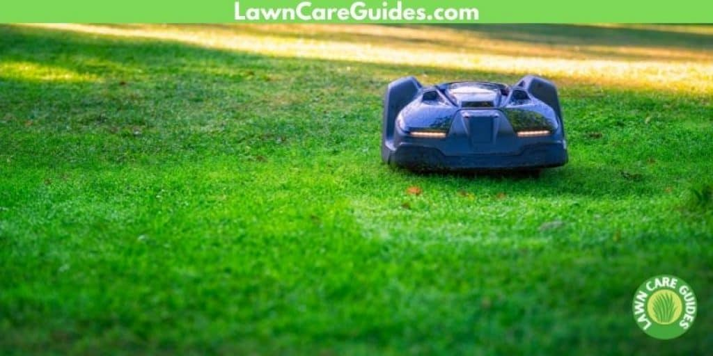 robot lawn mower on a slope